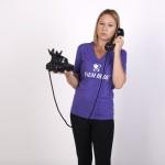 Veronika Hynková s telefonem